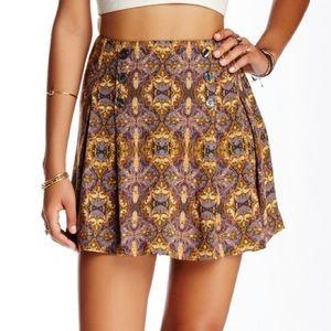 Free People Printed Mini Skirt